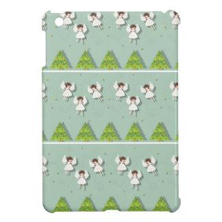 Christmas angels pattern iPad mini cover