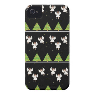 Christmas angels pattern iPhone 4 Case-Mate cases
