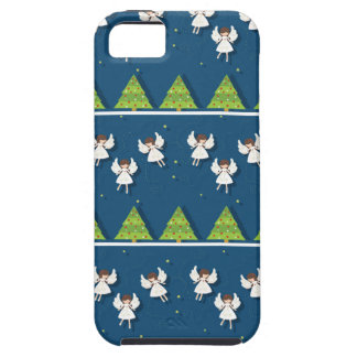 Christmas angels pattern iPhone 5 covers