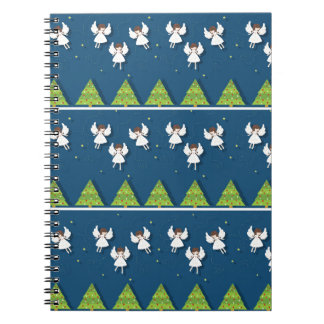 Christmas angels pattern notebook