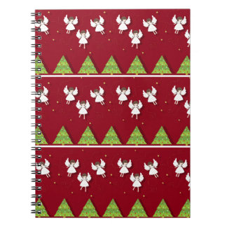 Christmas angels pattern notebooks