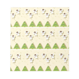 Christmas angels pattern notepad