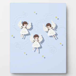 Christmas angels plaque