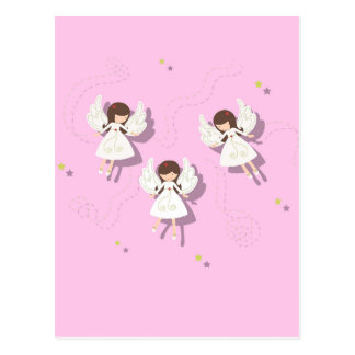 Christmas angels postcard