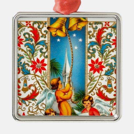 Christmas Angels Ringing Gold Bells Christmas Ornament