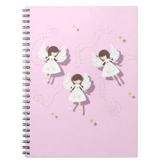 Christmas angels spiral notebook