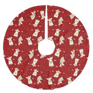 Christmas Angels Tree Skirt, Brushed Polyester Brushed Polyester Tree Skirt