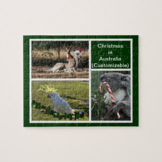 Christmas Animals Aussie Style - Personalizable Puzzle