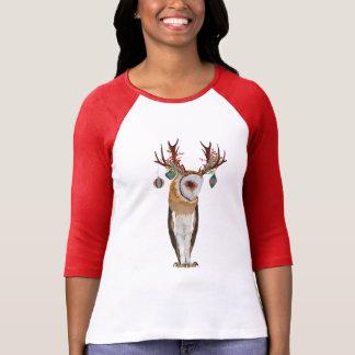 CHRISTMAS ANTLER OWL T-Shirt