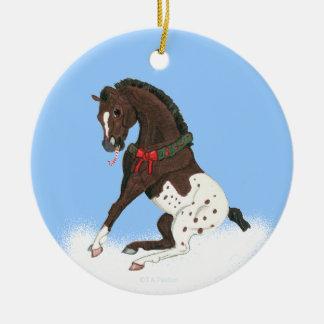 Christmas Appaloosa Colt Ceramic Ornament