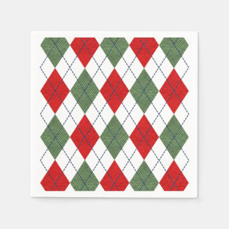 Christmas Argyle Disposable Napkin