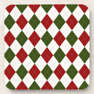 Christmas Argyle pattern Coaster
