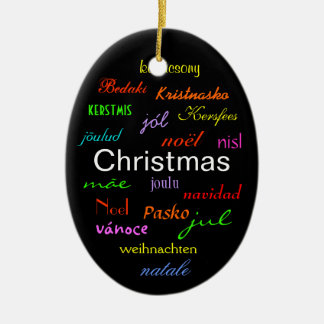 Christmas Around the World In Black I Ornaments