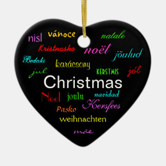 Christmas Around the World In Black III Christmas Tree Ornament