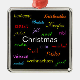 Christmas Around the World In Black IV Ornaments