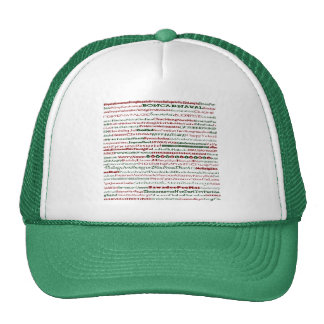 Christmas Around The World Text Design Hat