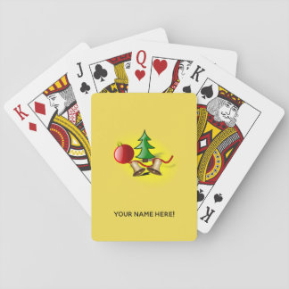 Christmas arrangement playing cards