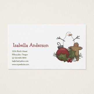 Christmas Arrangements · Gingerbread & Bauble Business Card