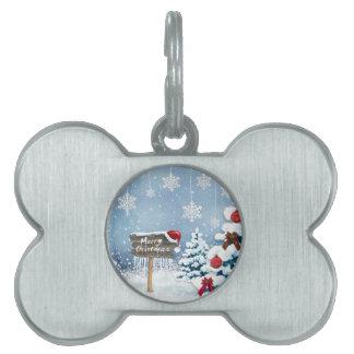 Christmas art - christmas illustrations pet name tag