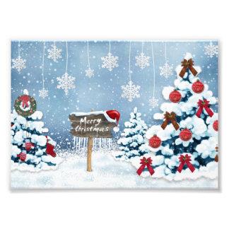 Christmas art - christmas illustrations photo print