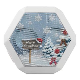 Christmas art - christmas illustrations white bluetooth speaker