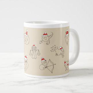 Christmas Astrology Horoscope Zodiac Signs Sketch Large Coffee Mug