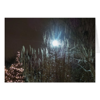 Christmas at Night Card Frameable 7x5 Greeting Card