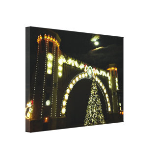 Christmas at the Band-shell Canvas Print