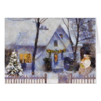 Christmas at the house card