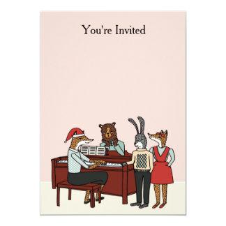 "Christmas at the Piano Invitation 5"" X 7"" Invitation Card"