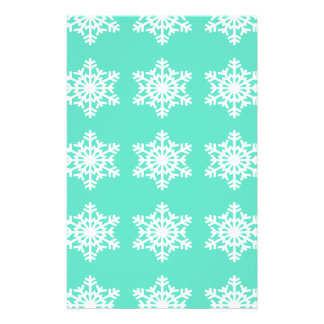 Christmas at Tiffanys Aqua Blue Snowflakes Flyer