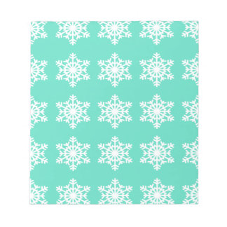 Christmas at Tiffanys Aqua Blue Snowflakes Notepad