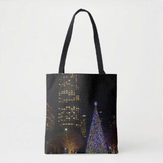 Christmas At Warren Park Night Tote Bag