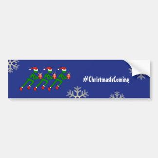 Christmas athletes custom text blue bumper sticker