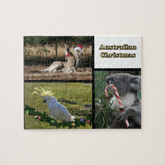 Christmas Aussie Style Animals Jigsaw Puzzle