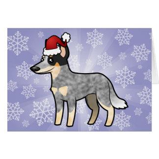 Christmas Australian Cattle Dog / Kelpie Greeting Card