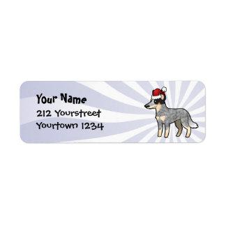 Christmas Australian Cattle Dog / Kelpie Return Address Label
