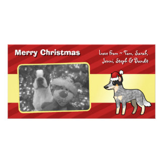 Christmas Australian Cattle Dog / Kelpie Customised Photo Card
