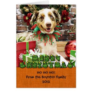 Christmas - Australian Shepherd - Cash Note Card