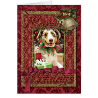 Christmas - Australian Shepherd - Cash Cards