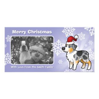 Christmas Australian Shepherd Customised Photo Card
