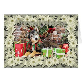 Christmas - Australian Shepherd - Gunnie Greeting Cards