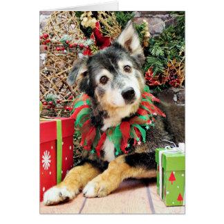 Christmas - Australian Shepherd - Gunnie Card