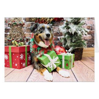 Christmas - Australian Shepherd - Kiko Card