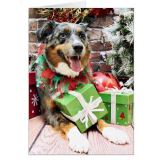 Christmas - Australian Shepherd - Kiko Greeting Cards