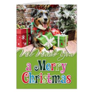 Christmas - Australian Shepherd - Kiko Greeting Card