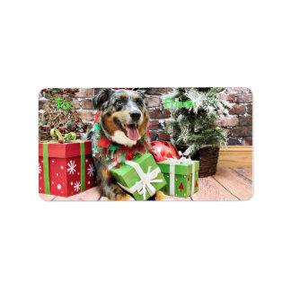 Christmas - Australian Shepherd - Kiko Address Label