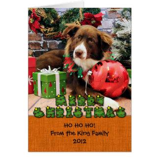 Christmas - Australian Shepherd - Molly Note Card