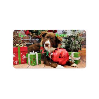 Christmas - Australian Shepherd - Molly Address Label