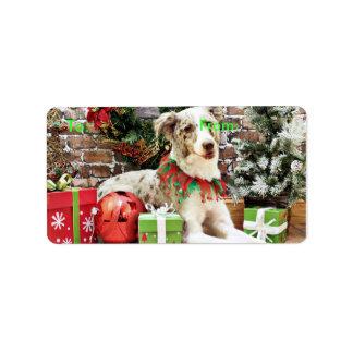 Christmas - Australian Shepherd - Shelby Address Label